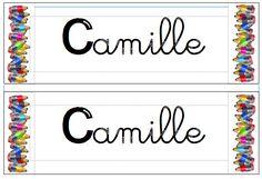 Etiquettes Prénoms ( présence et entrainement écriture cursive)