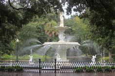 Forsyth Park Fountain in Savannah - Great Bucket List of 25 Things to Do in Savannah, GA