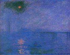 Claude Monet, Charing Cross Bridge, Fog on the Thames on ArtStack #claude-monet #art