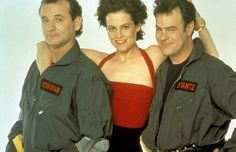 #Ghostbusters 2 (1989) publicity still with Bill Murray, Sigourney Weaver & Dan Aykroyd