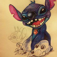 My ballpoint pen sketch of Stitch.