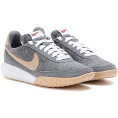 Nike Nike Roshe Waffle Racer Premium NM Sneakers ($135) ❤ liked on Polyvore featuring shoes, sneakers, grey, nike shoes, waffle shoes, nike trainers, gray shoes and nike