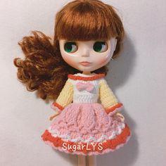CROCHET PATTERN pdf  Blythe doll dress sweetie