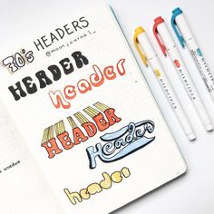 """50 amazing doodle """"How to's"""" for your bullet journal Bullet Journal School, Bullet Journal Inspo, Bullet Journal Headers, Bullet Journal Banner, Bullet Journal Aesthetic, Bullet Journal Notebook, Bullet Journal Layout, January Bullet Journal, Journal Fonts"""