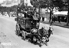 World War II. Double decker omnibus for public transport. Paris ...