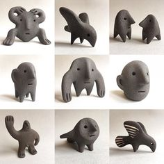 23 Clever DIY Christmas Decoration Ideas By Crafty Panda Ceramic Tableware, Ceramic Clay, Ceramic Pottery, Pottery Art, Abstract Sculpture, Sculpture Art, Modelos 3d, Ceramic Figures, Pottery Sculpture