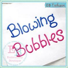 "Blowing Bubbles Alphabet (available as BX too) | 1"" 1.5"" 2""  2.5"" & 3"""