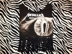 metallica fringe crop top size small by illuminaughtyclthing, $20.00