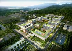 IBS Headquarters Phase Image credit: Samoo Architects and Engineers Hospital Architecture, Healthcare Architecture, Office Building Architecture, University Architecture, Green Architecture, Futuristic Architecture, Landscape Architecture, Building Design, Architecture Design