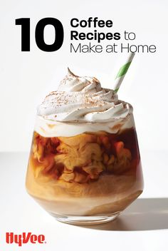 Craving a mocha, Americano, or latte? There's no need to run to the closest coffee shop. We have recipes to make your favorite coffee drinks and some new trendy recipes, like Whipped Coffee, all from the comfort of your own home. Coffee Drink Recipes, Coffee Drinks, Iced Coffee, Coffee Shop, Coffee Maker, Real Food Recipes, Dessert Recipes, Cooking Recipes, Desserts