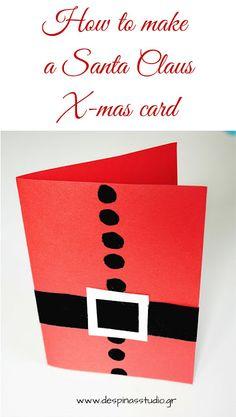 7 days of Christmas cards : DIY Santa Claus card (day #1)