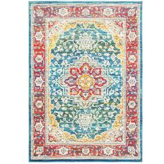 Bungalow Rose Mansi Red/Blue Area Rug & Reviews | Wayfair
