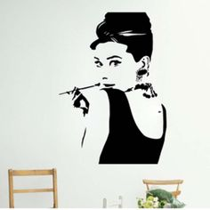 Audrey Hepburn Wall Decal