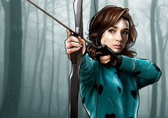 Allison Argent, by stiles-and-the-sourwolf.tumblr.com Her art is so fucking amazing I'm gonna cry, I swear.