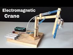 How to Make a Crane from Syringe In this video I show you how to make Electromagnetic Crane You need: wood, 6 syringes with rubber piston, 3 pipes, two v. School Science Projects, Stem Projects, Projects For Kids, Kids Crafts, Project Ideas, Easy Science, Science Experiments Kids, Computer Aided Manufacturing, Civil Engineering Design