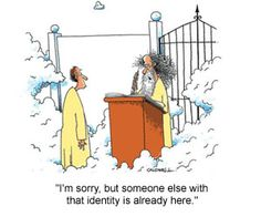 Funny cartoon - identity