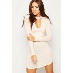 Karla Long Sleeve Choker Bodycon Mini Dress