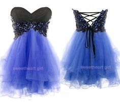Silhouette:+Ball+gown+ Occasion:+Prom,+homecoming+ Shown+Color:+Blue+ Fabric:+Tulle+ Shown+Color:+grass+green+ Neckline:+Sweetheart+ Waistline:+Natural+ Sleeve+length:+Sleeveless+ Hemline+/+train:+Mini+ Embellishmen. Purple Lace Bridesmaid Dresses, Mini Prom Dresses, Trendy Dresses, Cute Dresses, Beautiful Dresses, Short Dresses, Dress Prom, Grad Dresses, Quencenera Dresses