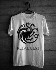 Game of Thrones Inspired Khaleesi dragon targaryen sigil AMERICAN APPaREL shirt Sizes S M L XL grey black or white Unisex Mens or Womens