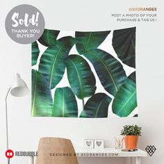 Just sold a Wall Tapestry of my artwork titled 'Cosmic Banana Leaves'! Order yours or see all #redbubble products carrying this design here: https://www.redbubble.com/people/83oranges/works/22435296-cosmic-banana-leaves-redbubble-lifestyle?p=tapestry&size=large