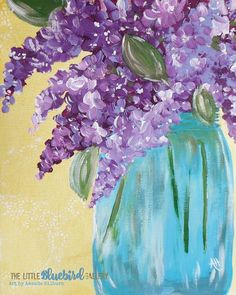 "Lilacs This piece is an 8×10 print of my original acrylic painting, ""Lilacs in a Mason Jar"". All of my prints are printed using high quality inks on acid free, fine art paper. There are 2 options: Ready to … Continued"