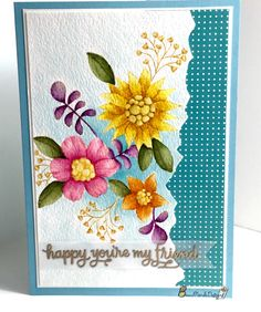 Beau Monde Designs Friend card using Simon Says Stamp Flower Garden and Flowers on my Mind stamp sets