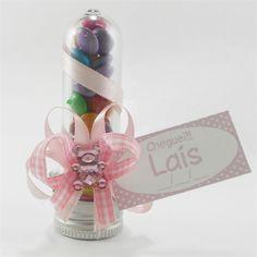 Lembrancinha Maternidade e Chá de Bebê Tubo Pet com Confetes $2.90