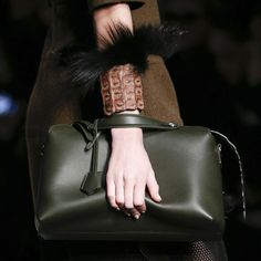Leather and fur at Fendi. Fall/Winter 2014-2015 Jewelry Trends
