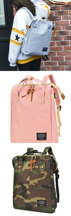 2017 New Arrival Fashion Lovers Square Large Canvas Laptop Bag Multi-function Handbag Backpack backpacks for girls, pink backpack, mini backpack, cool backpacks, backpacks for women, leather backpack, travel backpack, laptop backpack, school backpacks, cute backpacks,