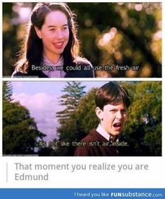 From Chronicles of Narnia! I think we're all Edmund sometimes haha My Tumblr, Tumblr Funny, Funny Quotes, Funny Memes, Jokes, Have A Laugh, Superwholock, Just For Laughs, Laugh Out Loud