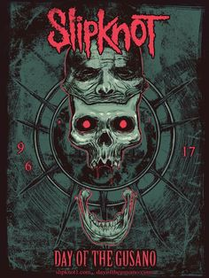 Day of gusano Rap Metal, Rock Y Metal, Heavy Metal Rock, Heavy Metal Music, Thrash Metal, Rock Posters, Band Posters, Slipknot, Hard Rock