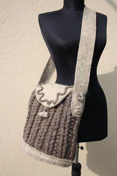 handbag,  accessories for women, wool, felting, artbag, art, filz, natural material, accessory, knitted bag