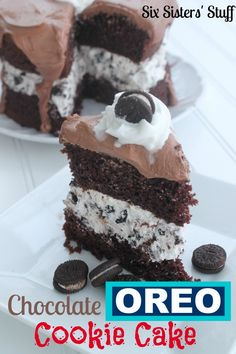 Chocolate Oreo Cookie Cake on SixSistersStuff.com