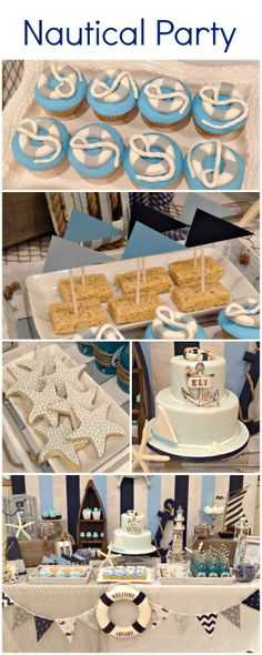 Love everything about this Nautical Birthday Party