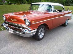 1957 Chevy Bel Air, Chevrolet Bel Air, Corvette Stingray 1969, 50s Cars, Car Photos, Muscle Cars, Hot Rods, Classic Cars, Nostalgia
