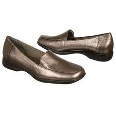 Trotters Jenn Shoes (Pewter Leather) - Women's Shoes - 10.5 M