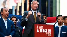 "New York Mayor says ""I am a Muslim"""