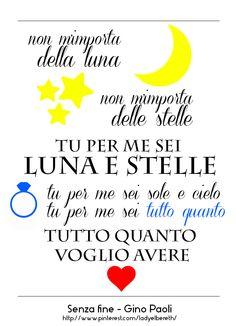 Senza Fine - Gino Paoli #song #quote #graphic #italian #canzone #ginopaoli #senzafine #romance #love