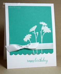 clean  ... Fall-to-Layout #82 ... luv how crisp the white stamping on aqua looks ...