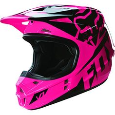Syd - Fox Racing Race Girls Dirt Bike Off Road Motocross Helmets Dirt Bike Girl, Pink Dirt Bike, Fox Racing, Racing Bike, Street Racing, Triumph Motorcycles, Custom Motorcycles, Auto Racing, Motocross Girls