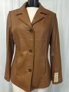 Wilson's 3 Button Chestnut Women's Leather Jacket Size Medium $300 | eBay