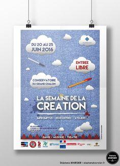 Affiches (suggestions) pour le festival international de courts-métrages étudiant Chalon-Tout-Court et brochure TriFold du programme