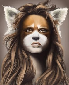 decided to do another half animal half human drawing just for myself, red panda this time (: Red Panda Hybrid Panda Face Painting, Human Painting, Human Drawing, Cosplay, Character Inspiration, Character Design, Character Art, Hybrid Art, Humanoid Creatures
