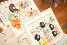 Display frames for hair clips