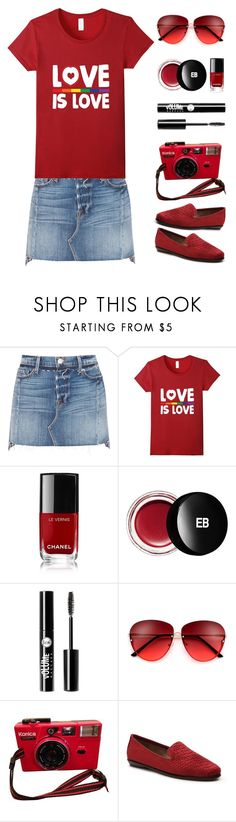 """""""Love is love"""" by rasa-j ❤ liked on Polyvore featuring Frame, Chanel, Edward Bess, Charlotte Russe and womensFashion"""