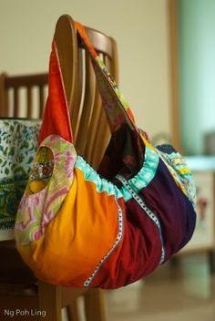 el porto duffle bag   ... Langdon's El Porto duffel in my own selection of fabric. #bag #diy