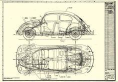 vw beetle 1960s blueprint - Google Search