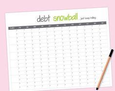 Debt Payoff Spreadsheet Debt Snowball Excel by PerennialPlanner
