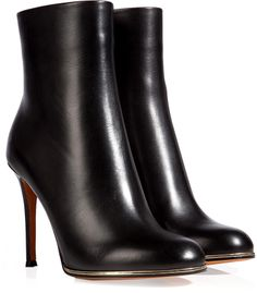 Givenchy Leather Ankle Boots in Black on shopstyle.com