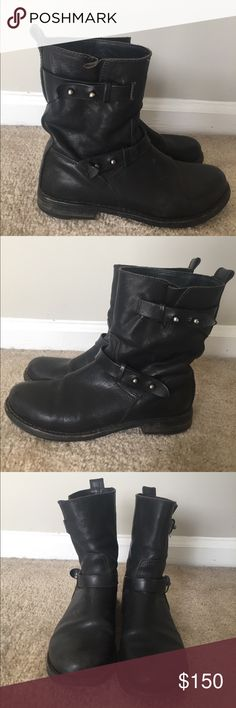 Rag & Bone moto boots Rag & Bone black moto boots. Good condition. Broken in well. rag & bone Shoes Combat & Moto Boots